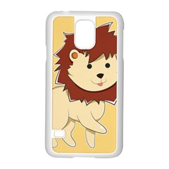 Happy Cartoon Baby Lion Samsung Galaxy S5 Case (white) by Catifornia