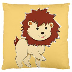 Happy Cartoon Baby Lion Standard Flano Cushion Case (one Side) by Catifornia