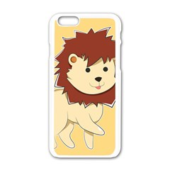 Happy Cartoon Baby Lion Apple Iphone 6/6s White Enamel Case by Catifornia