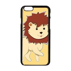 Happy Cartoon Baby Lion Apple Iphone 6/6s Black Enamel Case by Catifornia