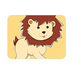 Happy Cartoon Baby Lion Double Sided Flano Blanket (mini)  by Catifornia