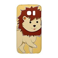 Happy Cartoon Baby Lion Galaxy S6 Edge by Catifornia
