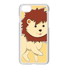 Happy Cartoon Baby Lion Apple Iphone 7 Seamless Case (white) by Catifornia