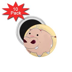 Happy Cartoon Baby Hippo 1 75  Magnets (10 Pack)  by Catifornia