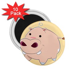 Happy Cartoon Baby Hippo 2 25  Magnets (10 Pack)  by Catifornia