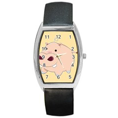 Happy Cartoon Baby Hippo Barrel Style Metal Watch by Catifornia