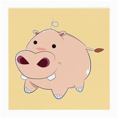 Happy Cartoon Baby Hippo Medium Glasses Cloth by Catifornia