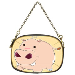 Happy Cartoon Baby Hippo Chain Purses (two Sides)  by Catifornia