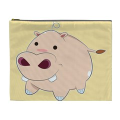 Happy Cartoon Baby Hippo Cosmetic Bag (xl) by Catifornia
