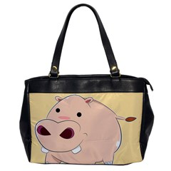 Happy Cartoon Baby Hippo Office Handbags by Catifornia