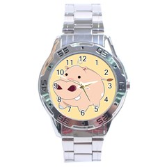 Happy Cartoon Baby Hippo Stainless Steel Analogue Watch by Catifornia