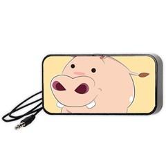 Happy Cartoon Baby Hippo Portable Speaker (black) by Catifornia
