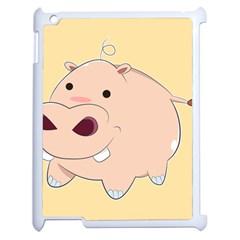 Happy Cartoon Baby Hippo Apple Ipad 2 Case (white) by Catifornia