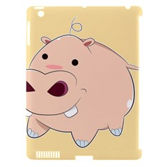 Happy Cartoon Baby Hippo Apple Ipad 3/4 Hardshell Case (compatible With Smart Cover) by Catifornia
