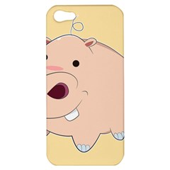 Happy Cartoon Baby Hippo Apple Iphone 5 Hardshell Case by Catifornia