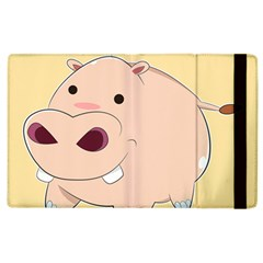 Happy Cartoon Baby Hippo Apple Ipad 3/4 Flip Case by Catifornia