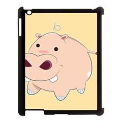 Happy Cartoon Baby Hippo Apple Ipad 3/4 Case (black) by Catifornia