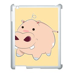 Happy Cartoon Baby Hippo Apple Ipad 3/4 Case (white) by Catifornia