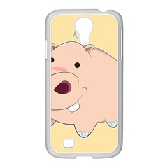 Happy Cartoon Baby Hippo Samsung Galaxy S4 I9500/ I9505 Case (white) by Catifornia