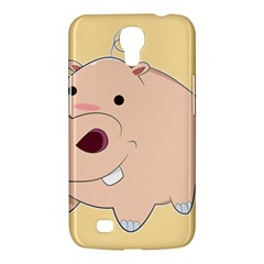 Happy Cartoon Baby Hippo Samsung Galaxy Mega 6 3  I9200 Hardshell Case by Catifornia