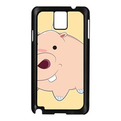Happy Cartoon Baby Hippo Samsung Galaxy Note 3 N9005 Case (black) by Catifornia