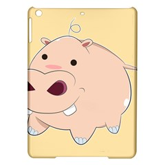 Happy Cartoon Baby Hippo Ipad Air Hardshell Cases by Catifornia