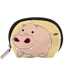 Happy Cartoon Baby Hippo Accessory Pouches (small)  by Catifornia