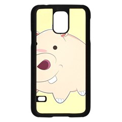 Happy Cartoon Baby Hippo Samsung Galaxy S5 Case (black) by Catifornia