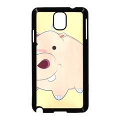 Happy Cartoon Baby Hippo Samsung Galaxy Note 3 Neo Hardshell Case (black) by Catifornia