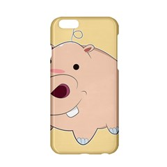 Happy Cartoon Baby Hippo Apple Iphone 6/6s Hardshell Case by Catifornia