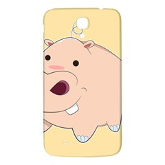 Happy Cartoon Baby Hippo Samsung Galaxy Mega I9200 Hardshell Back Case by Catifornia