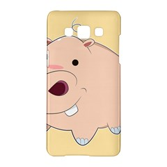 Happy Cartoon Baby Hippo Samsung Galaxy A5 Hardshell Case  by Catifornia