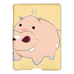 Happy Cartoon Baby Hippo Samsung Galaxy Tab S (10 5 ) Hardshell Case  by Catifornia