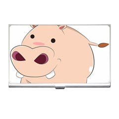Happy Cartoon Baby Hippo Business Card Holders by Catifornia
