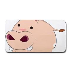 Happy Cartoon Baby Hippo Medium Bar Mats by Catifornia