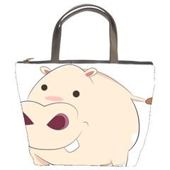 Happy Cartoon Baby Hippo Bucket Bags by Catifornia