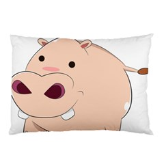 Happy Cartoon Baby Hippo Pillow Case by Catifornia
