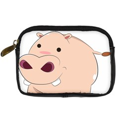 Happy Cartoon Baby Hippo Digital Camera Cases by Catifornia