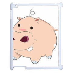 Happy Cartoon Baby Hippo Apple Ipad 2 Case (white) by Catifornia