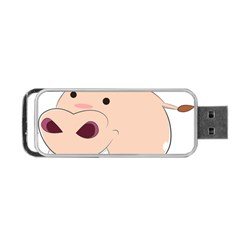 Happy Cartoon Baby Hippo Portable Usb Flash (two Sides) by Catifornia