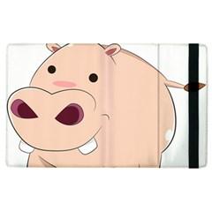 Happy Cartoon Baby Hippo Apple Ipad 3/4 Flip Case by Catifornia