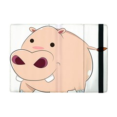 Happy Cartoon Baby Hippo Apple Ipad Mini Flip Case by Catifornia