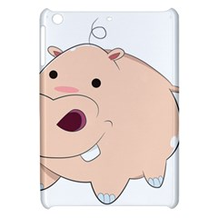 Happy Cartoon Baby Hippo Apple Ipad Mini Hardshell Case by Catifornia