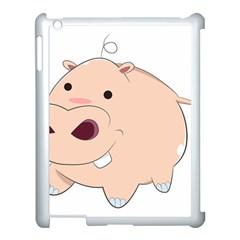 Happy Cartoon Baby Hippo Apple Ipad 3/4 Case (white) by Catifornia