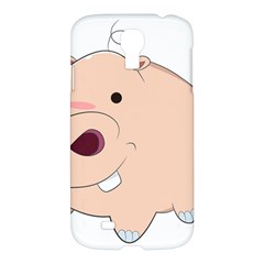 Happy Cartoon Baby Hippo Samsung Galaxy S4 I9500/i9505 Hardshell Case by Catifornia