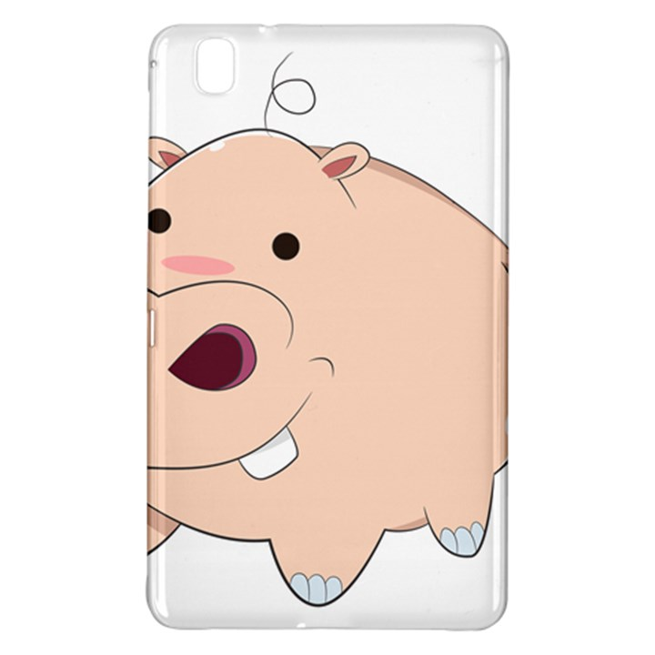 Happy Cartoon Baby Hippo Samsung Galaxy Tab Pro 8.4 Hardshell Case