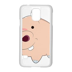 Happy Cartoon Baby Hippo Samsung Galaxy S5 Case (white) by Catifornia