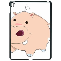 Happy Cartoon Baby Hippo Apple Ipad Pro 9 7   Black Seamless Case by Catifornia