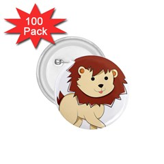 Happy Cartoon Baby Lion 1 75  Buttons (100 Pack)  by Catifornia