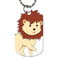 Happy Cartoon Baby Lion Dog Tag (one Side) by Catifornia